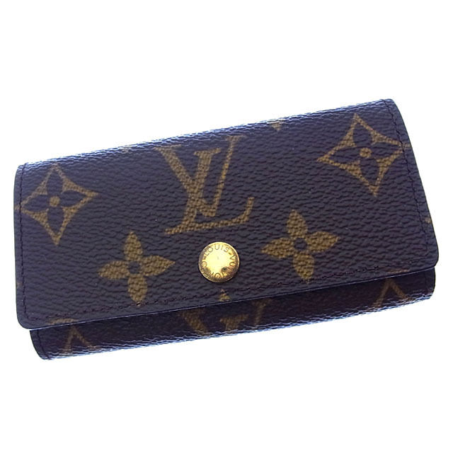 【中古】 ルイヴィトン Louis Vuitton キーケース 4連キーケース メンズ可 ミュルティクレ4 モノグラム M62631 ブラウン モノグラムキャンバス (あす楽対応) 良品 Y2470 .