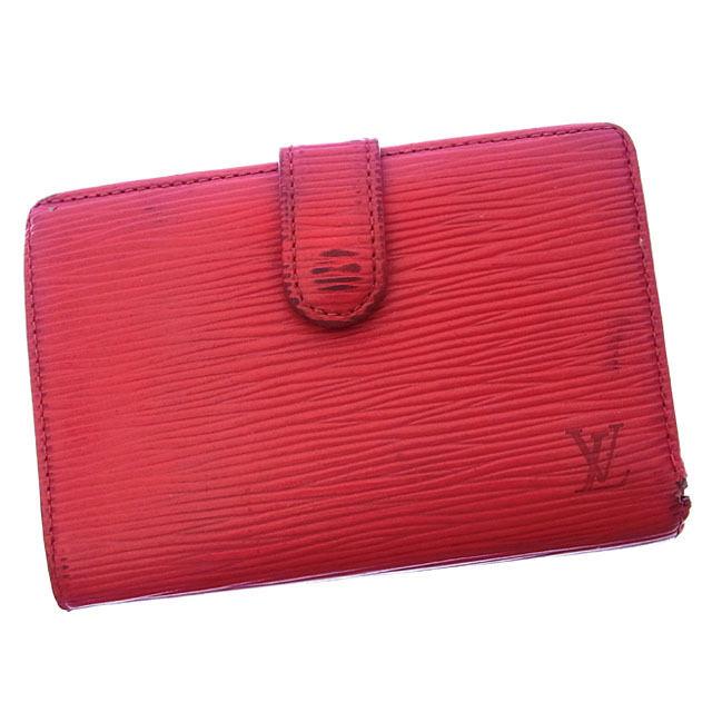 【中古】 ルイヴィトン Louis Vuitton がま口財布 二つ折り メンズ可 ポルトモネビエヴィエノワ エピ M63247 カスティリアンレッド エピレザー (あす楽対応)激安 Y2515 .