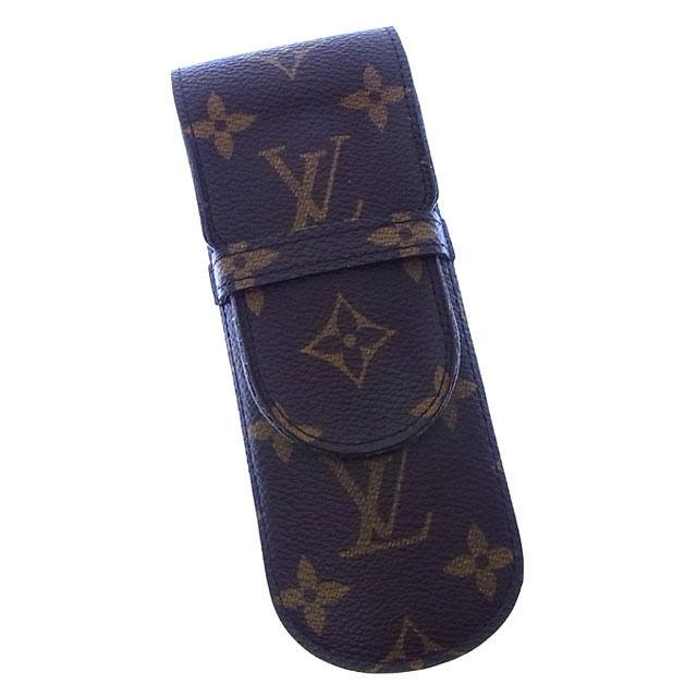 【中古】 ルイヴィトン Louis Vuitton ペンケース 小物入れ メンズ可 エテュイスティロ モノグラム M62990 ブラウン モノグラムキャンバス (あす楽対応)良品 Y2534 .