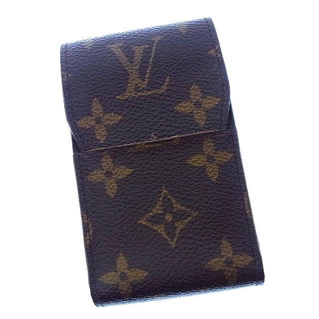 【中古】 ルイヴィトン Louis Vuitton シガレットケース タバコケース メンズ可 エテュイシガレット モノグラム M63024 ブラウン モノグラムキャンバス (あす楽対応)良品 Y2538 .