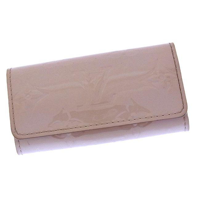 【中古】 ルイヴィトン Louis Vuitton キーケース 4連キーケース レディース ミュルティクレ4 ヴェルニ M90082 ローズアンジェリーク(ライトピンク) パテントレザー (あす楽対応)良品 Y2587 .