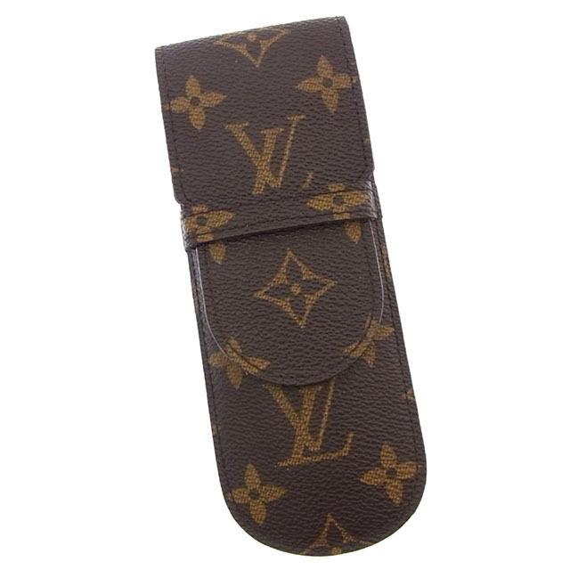 【中古】 ルイヴィトン Louis Vuitton ペンケース 小物入れ メンズ可 エテュイスティロ モノグラム M62990 ブラウン モノグラムキャンバス (あす楽対応)激安 Y2651 .