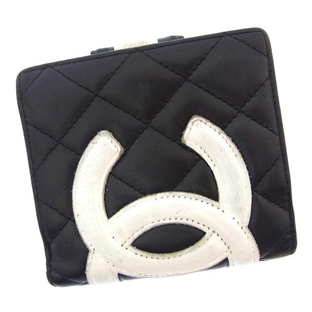 ecdfbe3cac3c ブランド財布】 シャネル シャネル Chanel 二つ折り財布 財布 がま口 ...