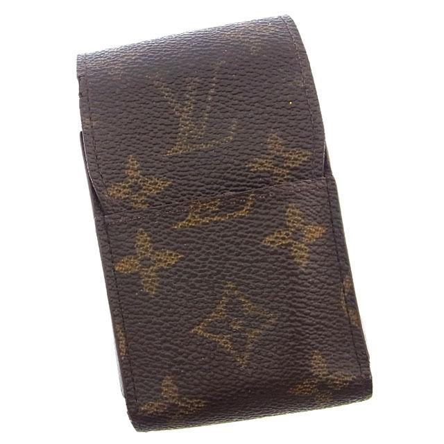 【中古】 ルイヴィトン Louis Vuitton シガレットケース タバコケース メンズ可 エテュイシガレット モノグラム M63024 ブラウン モノグラムキャンバス (あす楽対応)激安 Y2692 .