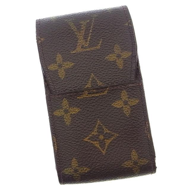【中古】 ルイヴィトン Louis Vuitton シガレットケース タバコケース メンズ可 エテュイシガレット モノグラム M63024 ブラウン モノグラムキャンバス (あす楽対応)激安 Y2695 .