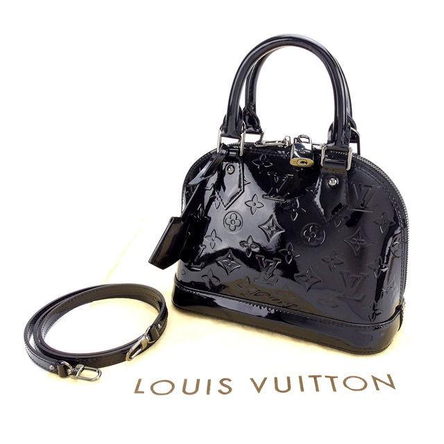 【中古】 ルイヴィトン Louis Vuitton ハンドバッグ 斜めがけショルダー レディース ?アルマBB ヴェルニ M90063 ブラック/ノワール パテントレザー (あす楽対応)レア色 未使用 Y2727 .