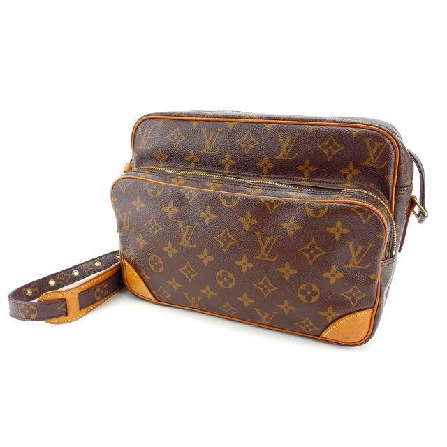 【中古】 ルイヴィトン Louis Vuitton ショルダーバッグ 斜めがけショルダー メンズ可 ナイル モノグラム M45244 ブラウン モノグラムキャンバス (あす楽対応)良品 訳あり Y2728 .