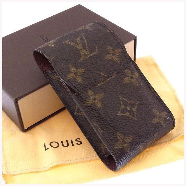 【中古】 ルイヴィトン Louis Vuitton シガレットケース タバコケース メンズ可 エテュイシガレット モノグラム M63024 ブラウン モノグラムキャンバス (あす楽対応)良品 Y2829 .