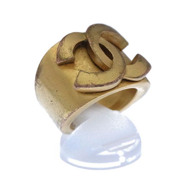 【中古】 シャネル CHANEL 指輪 リング アクセサリー メンズ可 ♯13号 ヴィンテージクラシック ココマーク ゴールド ゴールドメッキ (あす楽対応)激安 Y2848 .