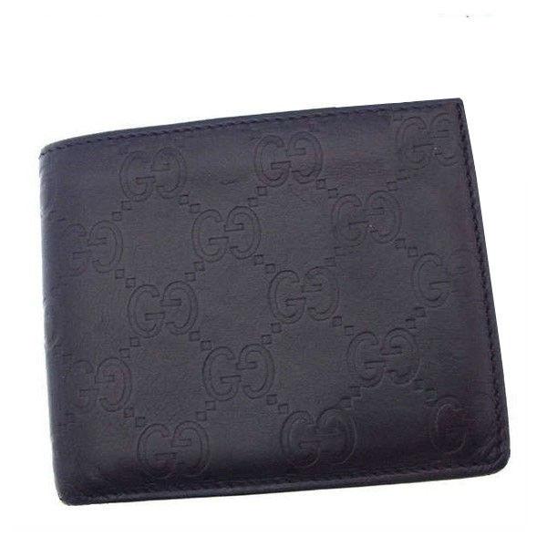 【中古】 グッチ GUCCI 財布 レディース グッチシマ ブラック 激安 Y2852
