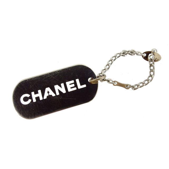 【中古】 シャネル CHANEL キーホルダー プレート メンズ可 シルバー (あす楽対応)良品 Y2971