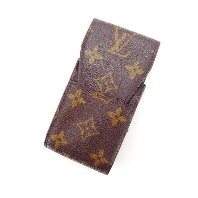 【中古】 ルイヴィトン Louis Vuitton シガレットケース タバコケース メンズ可 エテュイシガレット モノグラム M63024 ブラウン モノグラムキャンバス (あす楽対応)激安 Y2997 .