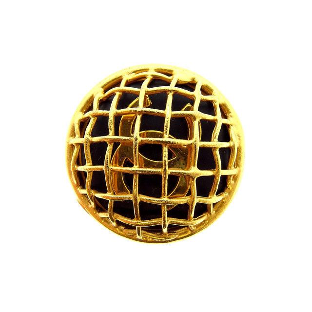 【中古】 シャネル CHANEL イヤリング 片耳 レディース マトラッセ ゴールド×ブラック (あす楽対応)良品 Y3001