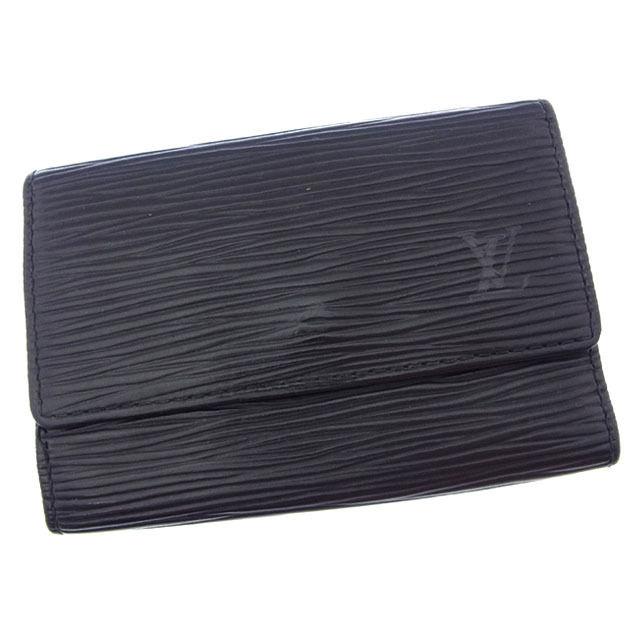 【中古】 ルイヴィトン Louis Vuitton キーケース 6連キーケース メンズ可 ミュルティクレ6 エピ M63812 ノワール(ブラック) エピレザー (あす楽対応)激安 Y3151 .