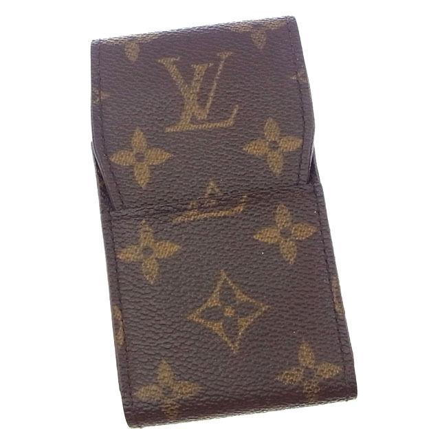 【中古】 ルイヴィトン Louis Vuitton シガレットケース タバコケース メンズ可 エテュイシガレット モノグラム M63024 ブラウン モノグラムキャンバス (あす楽対応)激安 Y3168 .