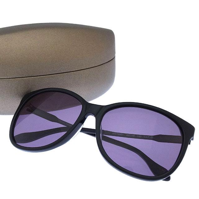 【中古】 ヴィヴィアンウエストウッド Vivienne Westwood サングラス メガネ メンズ可 サイドロゴ入り ウエリントン型 AN79801 クリアブラック×ブラック プラスティック (あす楽対応) 未使用 Y3172
