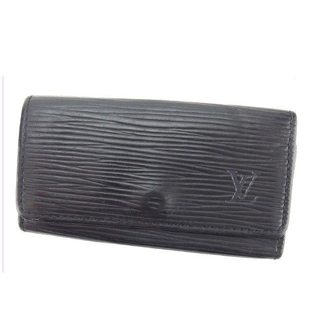 【中古】 ルイヴィトン Louis Vuitton キーケース 4連キーケース メンズ可 ミュルティクレ4 エピ M63822 ノワール(ブラック) エピレザー (あす楽対応)激安 Y3196 .
