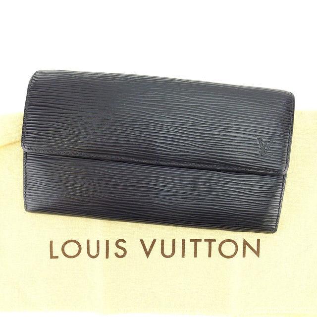 【中古】 ルイヴィトン Louis Vuitton 長財布 ファスナー 二つ折り メンズ可 ポシェットポルトモネクレディ エピ M63592 ノワール(ブラック) エピレザー (あす楽対応)激安 Y3211 .