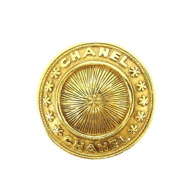 【中古】 シャネル CHANEL ブローチ ファッションアクセサリー メンズ可 ラウンドフォルム ロゴ ゴールド ゴールド金具 (あす楽対応)激安 Y3216 .