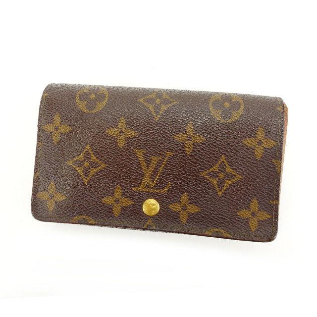 【中古】 ルイヴィトン Louis Vuitton L字ファスナー財布 二つ折り メンズ可 ポルトモネビエトレゾール モノグラム M61730 ブラウン モノグラムキャンバス (あす楽対応)人気 Y3357 .