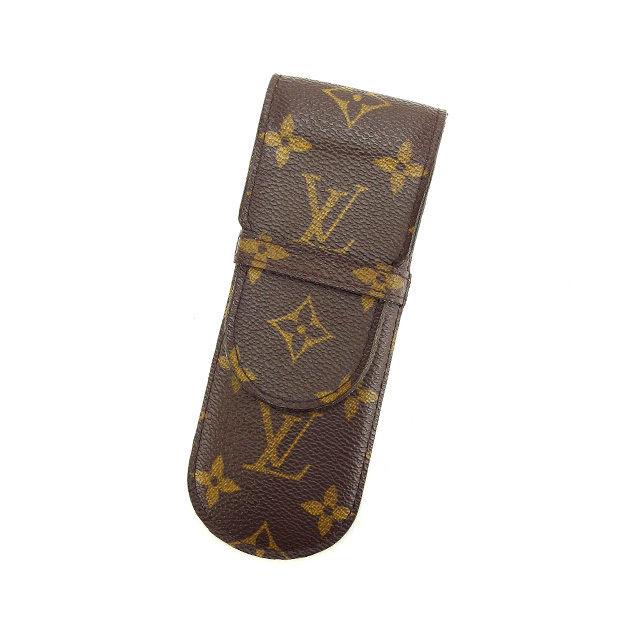 【中古】 ルイヴィトン Louis Vuitton ペンケース 小物入れ メンズ可 エテュイスティロ モノグラム M62990 ブラウン モノグラムキャンバス (あす楽対応)人気 Y3358 .