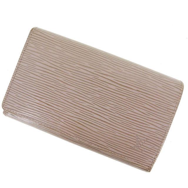 【中古】 ルイヴィトン Louis Vuitton L字ファスナー財布 二つ折り メンズ可 /ポルトモネビエトレゾール エピ M61730 リラ PVC×レザー (あす楽対応)人気 激安 Y807 .