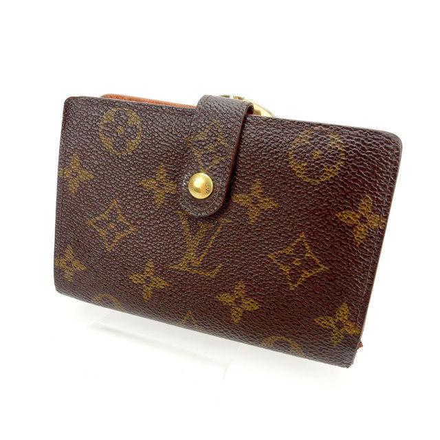【中古】 ルイヴィトン Louis Vuitton がま口財布 二つ折り /メンズ可 /ポルトモネ ビエヴィエノワ モノグラム M61663 ブラウン PVC×レザー (あす楽対応)人気 激安 Y870 .