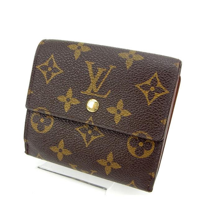 【中古】 ルイヴィトン Louis Vuitton Wホック財布 /三つ折り /メンズ可 /ポルトモネビエカルトクレディ モノグラム M61652 ブラウン モノグラムキャンバス (あす楽対応)人気 激安 Y922 .