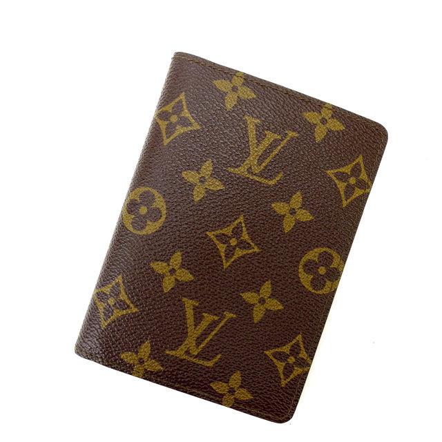 【中古】 ルイヴィトン Louis Vuitton 二つ折り財布 証明書入れ メンズ可 モノグラム M61619 (あす楽対応)人気 良品 Y999 .