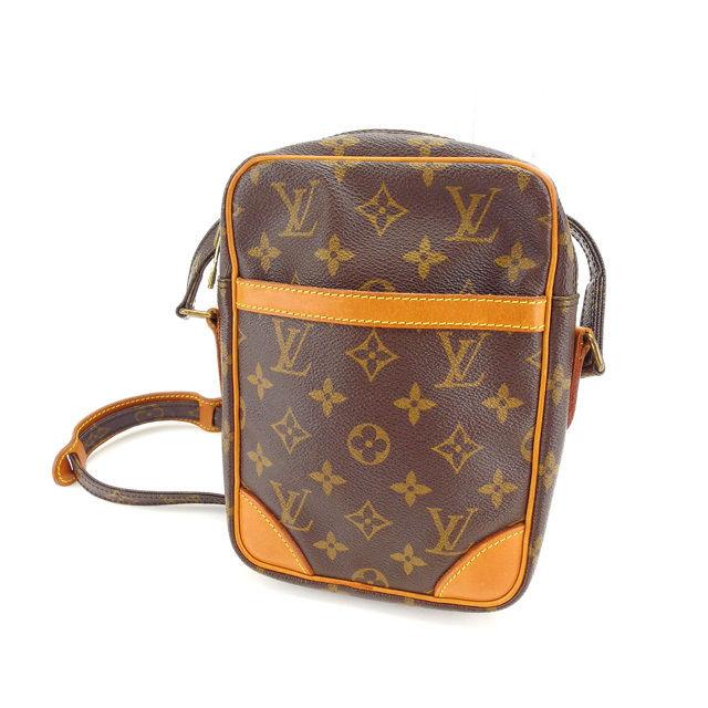 【中古】 ルイヴィトン Louis Vuitton ショルダーバッグ 斜めがけショルダー メンズ可 ダヌーブ モノグラム M45266 ブラウン モノグラムキャンバス (あす楽対応)人気 Y3451 .