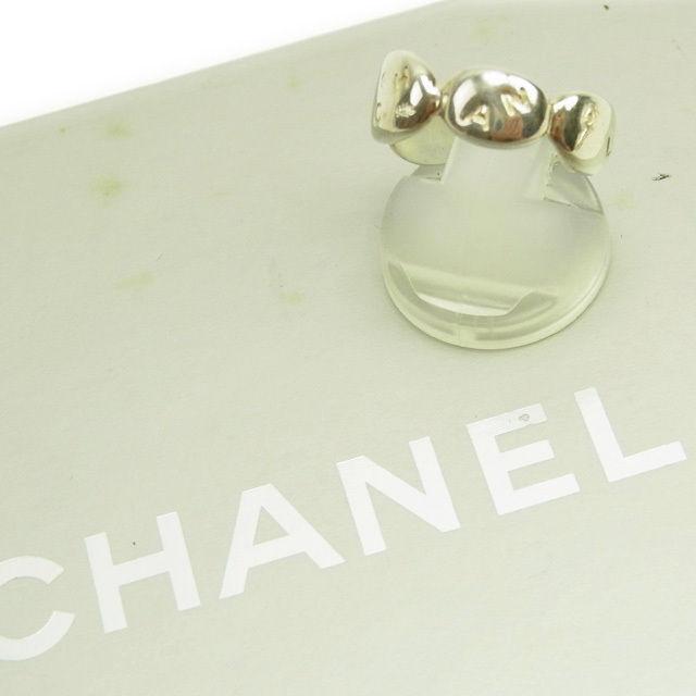【中古】 シャネル CHANEL 指輪 リング アクセサリー レディース ♯11~115号 ロゴ シルバー 良品 Y3484 .