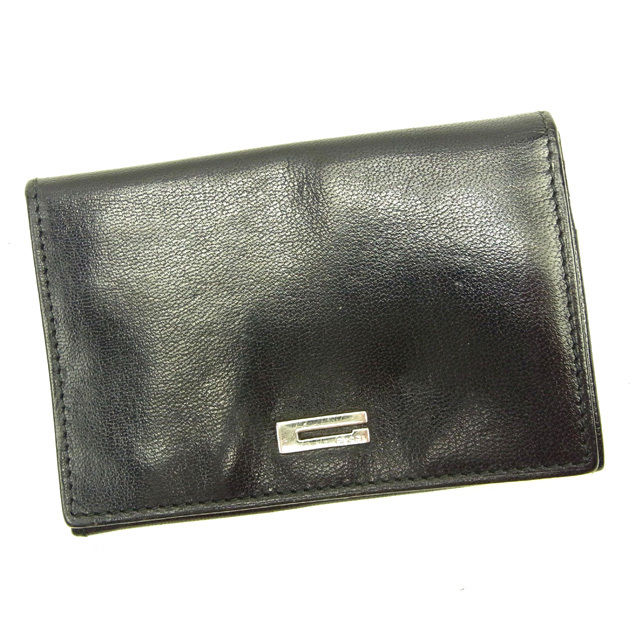 【グッチ】 Gマーク 【中古】 ブラック×シルバー パスケース GUCCI T15559 カード グッチ カードケース