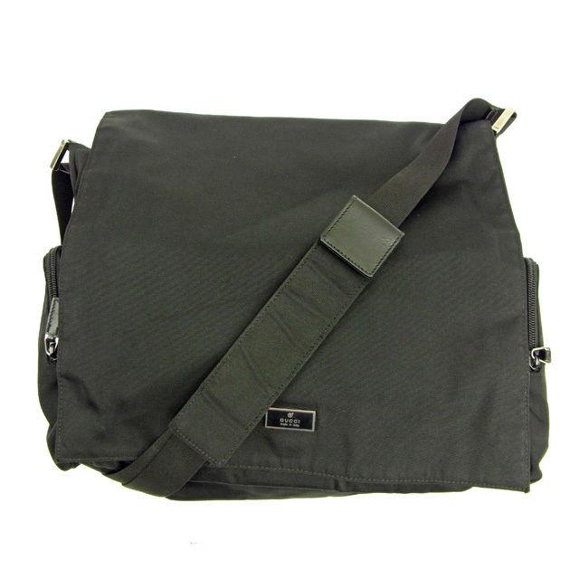 e604ce837ff335 It is shoulder Lady's logo plate black X silver popularity sale Y3645 at Gucci  GUCCI shoulder bag bias