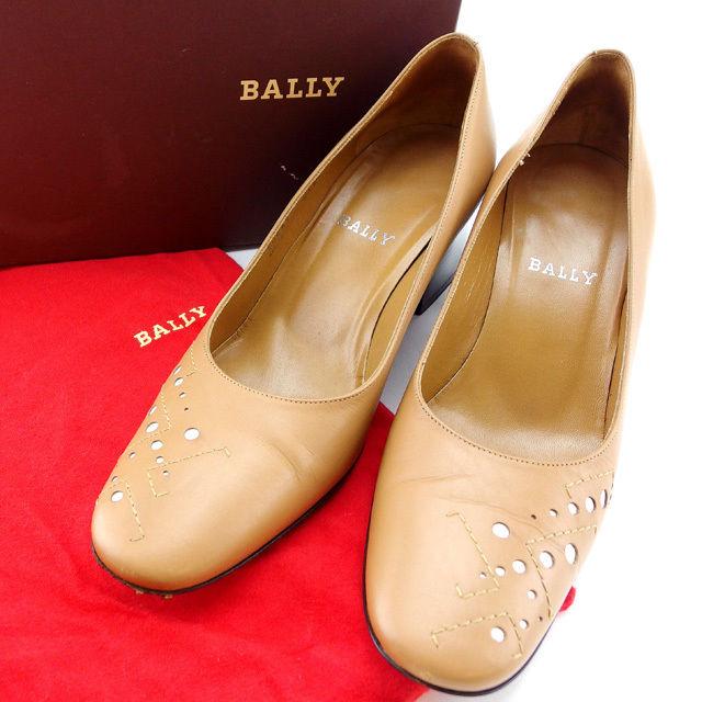 【中古】 バリー BALLY パンプス シューズ 靴 レディース ♯36ハーフEU 6US ライトブラウン×ブラウン T13690 .