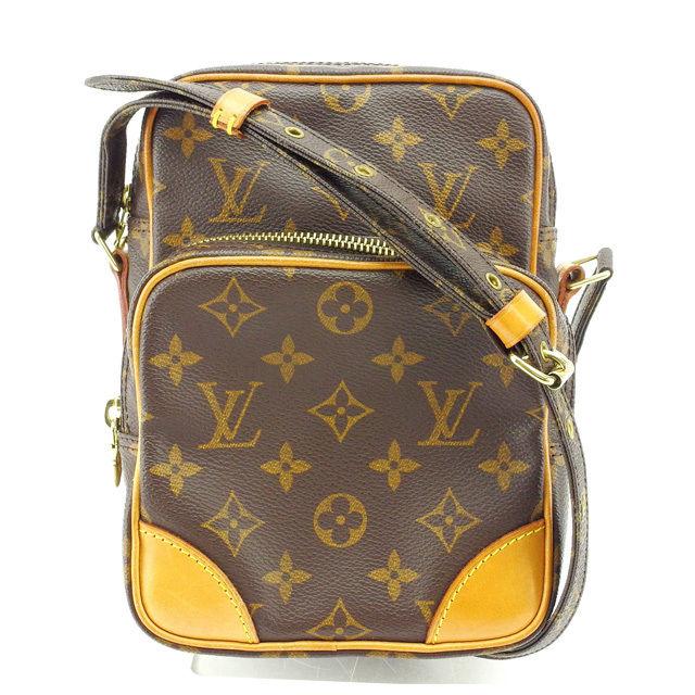 【中古】 ルイヴィトン Louis Vuitton ショルダーバッグ 斜めがけショルダー メンズ可 アマゾン モノグラム M45236 ブラウン モノグラムキャンバス (あす楽対応)良品 Y3712 .