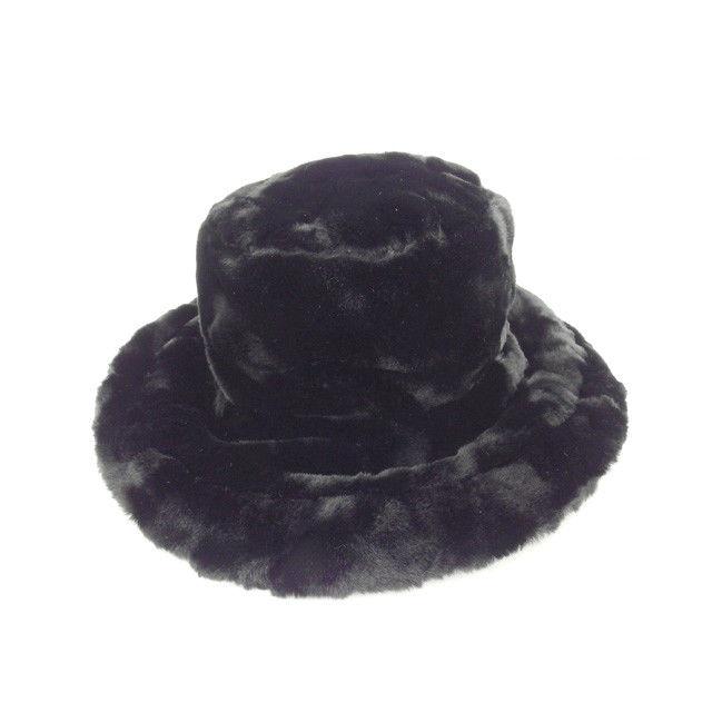 【中古】 フェンディ FENDI 帽子 レディース ブラック フェイクファー (あす楽対応)良品 Y3773 .