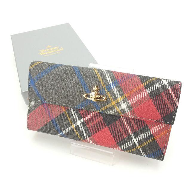 【中古】 ヴィヴィアン・ウエストウッド Vivienne Westwood 長財布 レディース オーブ PVC×レザー (あす楽対応)美品 Y3811