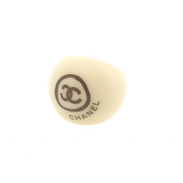 【中古】 シャネル CHANEL 指輪 リング アクセサリー 男女兼用 ♯13号 ココマーク アイボリー×ブラック プラスティック (あす楽対応)良品 Y3951 .