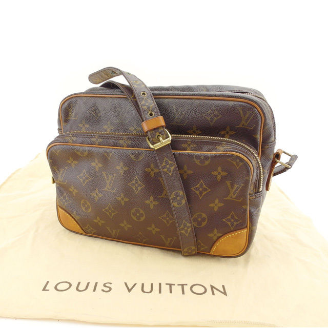 【中古】 ルイヴィトン Louis Vuitton ショルダーバッグ 斜めがけショルダー 男女兼用 ナイル モノグラム M45244 ブラウン モノグラムキャンバス (あす楽対応)人気 Y3971 .