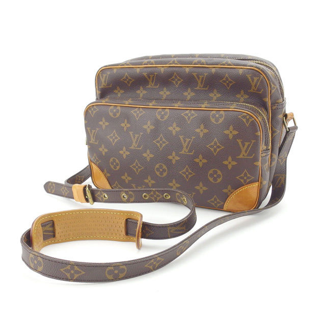 【中古】 ルイヴィトン Louis Vuitton ショルダーバッグ 斜めがけショルダー 男女兼用 ナイル モノグラム M45244 ブラウン モノグラムキャンバス (あす楽対応)人気 Y4198