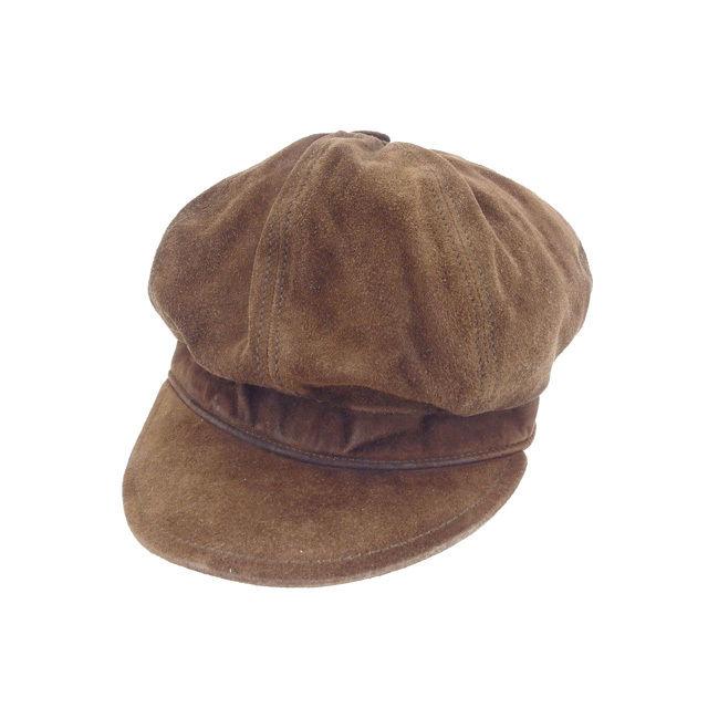 【中古】 グッチ GUCCI 帽子 男女兼用 キャスケット ブラウン スエード (あす楽対応)人気 Y4268