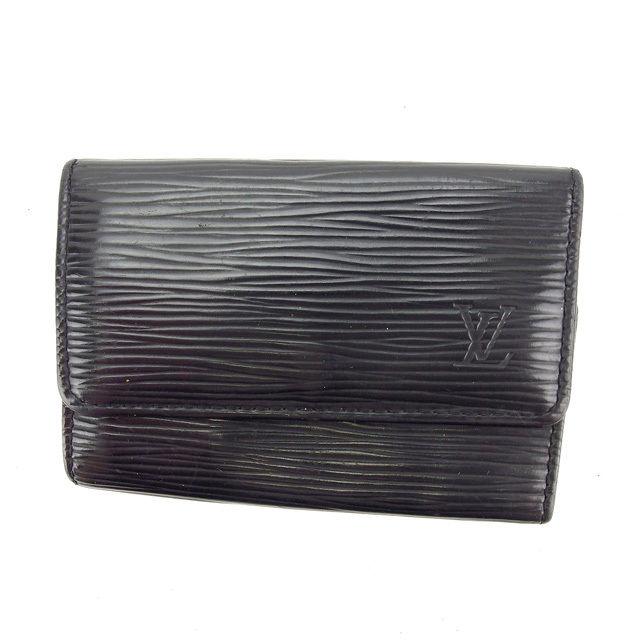 【中古】 ルイヴィトン Louis Vuitton キーケース /メンズ可 /ミュルティクレ6 エピ M63812 ノワール(黒) エピレザー (あす楽対応)人気 Y4403 .