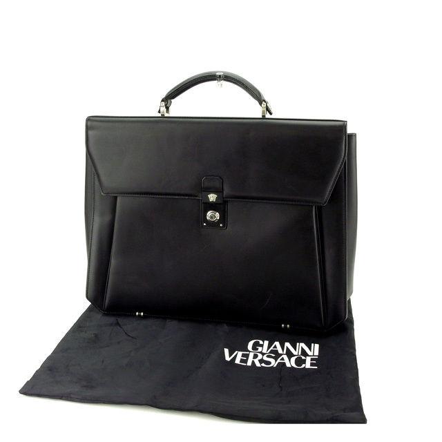 【中古】 人気 セール ジャンニ ヴェルサーチ ビジネスバッグ メドゥーサ メンズ【中古】 T12260