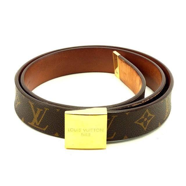 【中古】 ルイヴィトン Louis Vuitton ベルト レディース サンチュールキャレ モノグラム 人気 Y5137