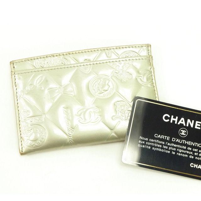 【中古】 シャネル CHANEL 名刺入れ カードケース カード レディース シルバー T12339