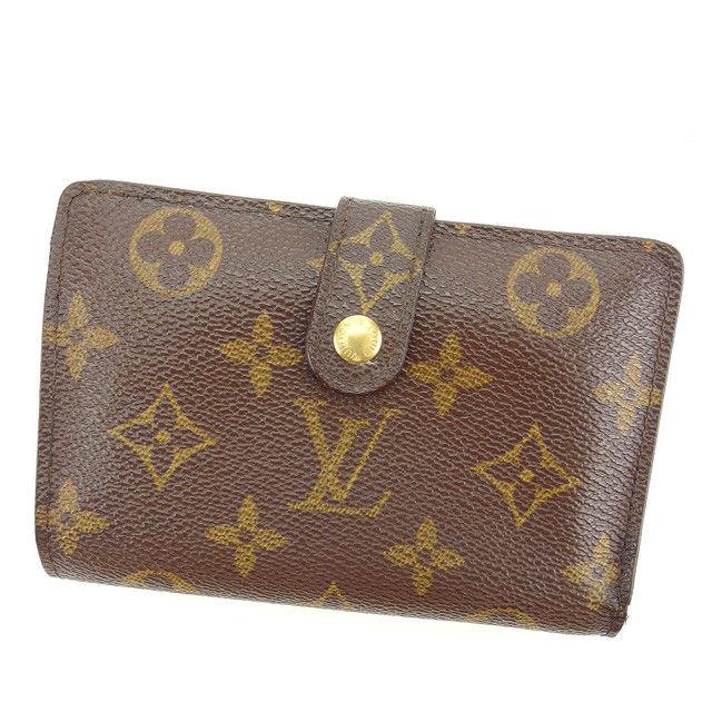 【中古】 ルイヴィトン Louis Vuitton がま口財布 二つ折り財布 ポルトモネビエヴィエノワ モノグラム ブラウン モノグラムキャンバス 人気 Y5533 .