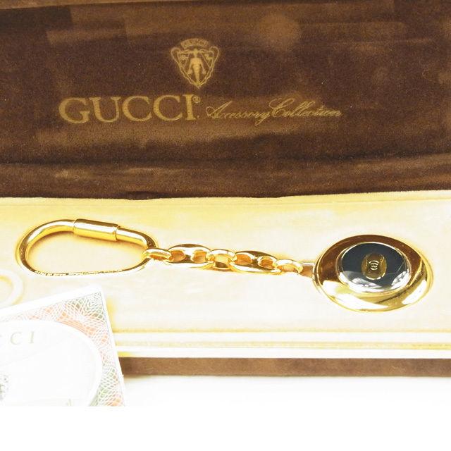 【中古】 グッチ Gucci キーホルダー メンズ可 ゴールド T14755