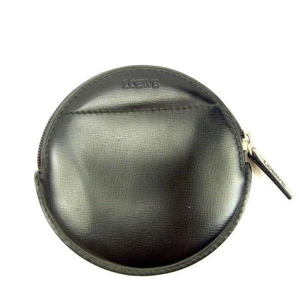 【中古】 ロエベ LOEWE コインケース メンズ可 ブラック レザー 良品 Y5594 .