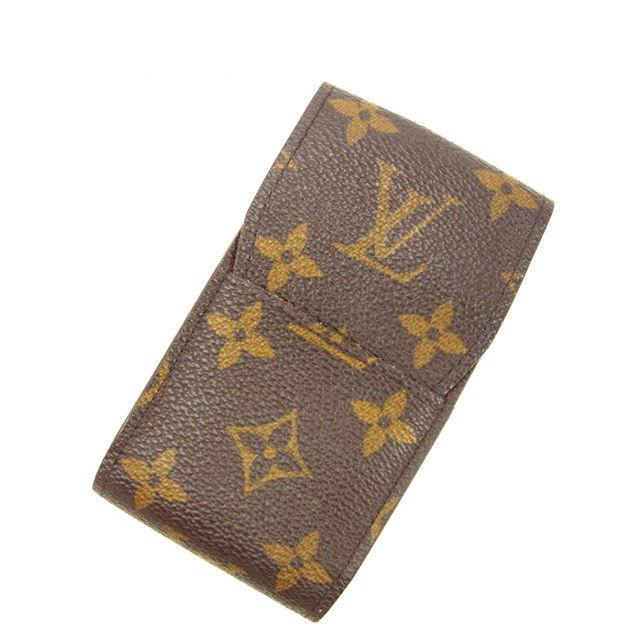 【中古】 ルイヴィトン LOUIS VUITTON シガレットケース タバコケース メンズ可 エテュイシガレット モノグラム ブラウン モノグラムキャンバス 人気 Y5638 .