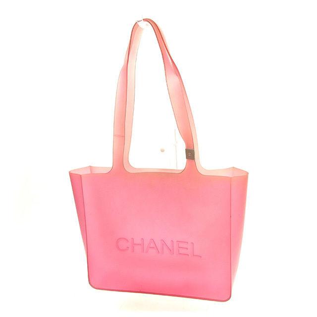 【中古】 シャネル CHANEL トートバッグ ワンショルダー メンズ可 ピンク ラバー 人気 Y5731